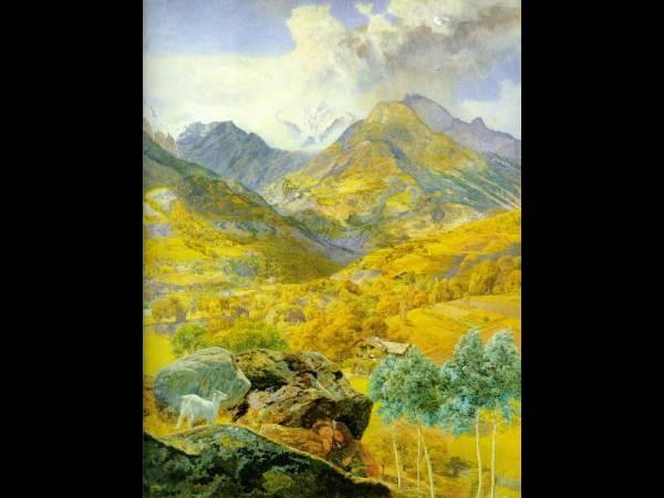 The Val d Aosta 1858 88x68cm